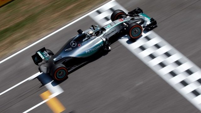Lewis Hamilton in action