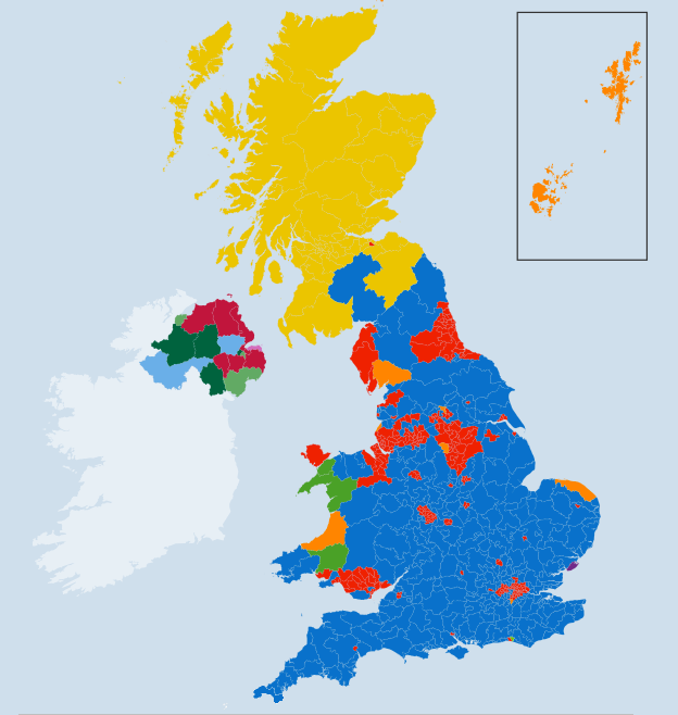 General election 2015 map
