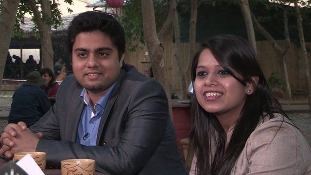 Shashank and Prerna, two young Indians