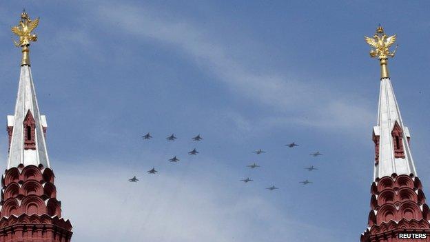 Fly-by at Moscow parade, 9 May