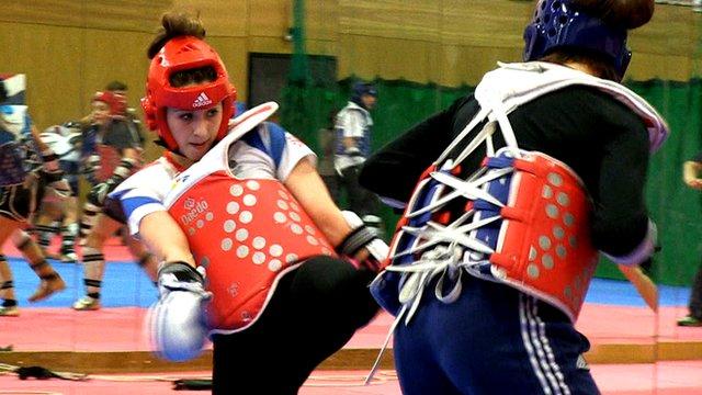 Taekwondo star Jade Jones trains ahead of the 2015 European Games