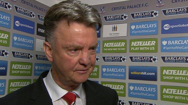 Crystal Palace 1-2 Man Utd: Van Gaal says work ethic key to victory