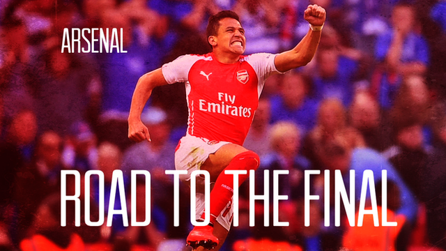 Arsenal's road to the FA Cup final