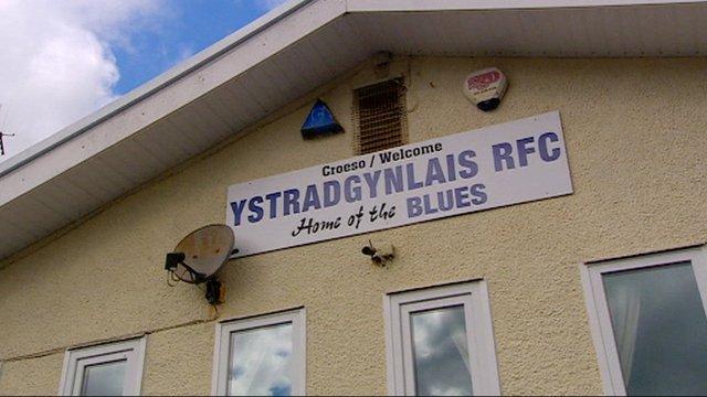 Scrum V's Rick O'Shea visits Ystradgynlais
