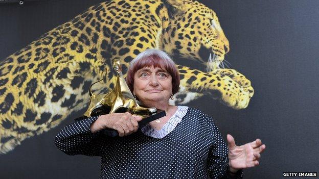 Agnes Varda at Pardo d' Onore Swisscom during Locarno Film Festival