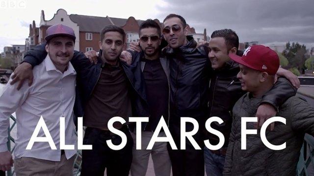 All Stars FC in team huddle