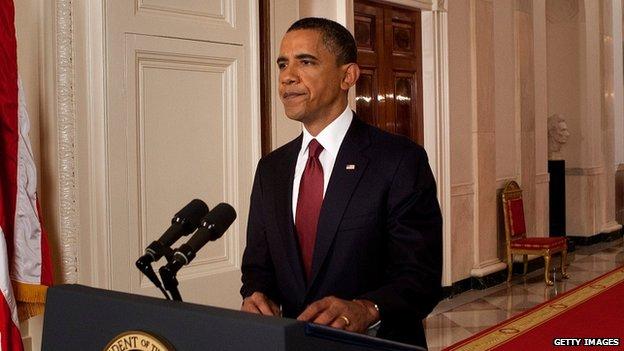 President Obama announces Osama Bin Laden's death.