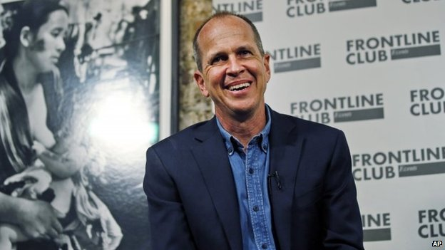 Peter Greste at the Frontline Club in London (19 February 2015)