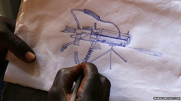 Drawing of a gun