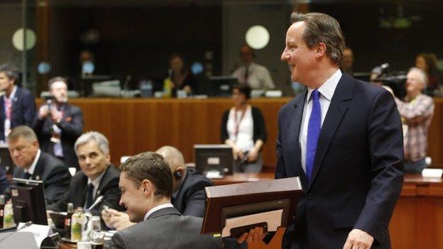 David Cameron arrives for EU migration summit in Brussels