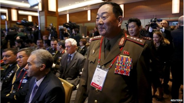 North Korean Defence Minister Hyon Yong-chol at a security conference in Russia (April 2015)