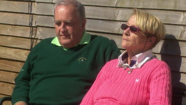 Jimmy and Helen Mallon spoke to BBC News NI's Kevin Magee