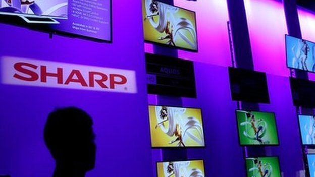 Sharp logo and televisions