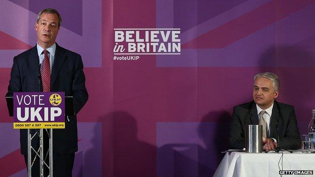 Patrick O'Flynn and Nigel Farage