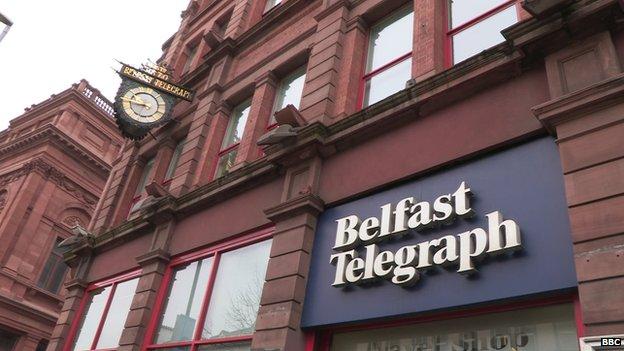 Belfast Telegraph headquarters in Belfast