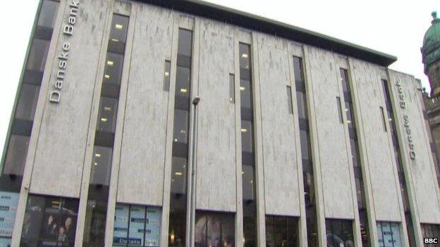 Danske Bank headquarters in Belfast