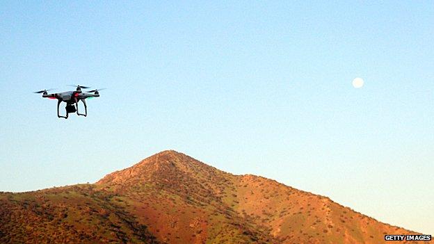 A drone in Chile