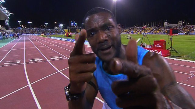Justin Gatlin blows away Doha Diamond League field