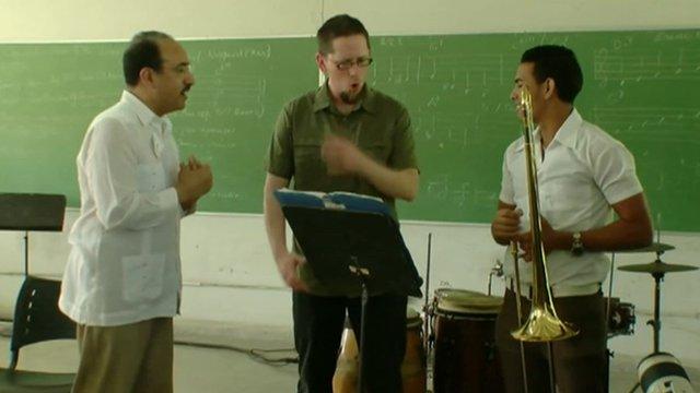 Cuban and American musicians in Havana