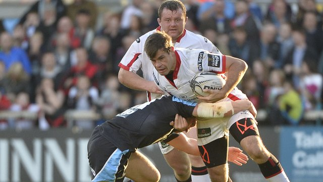 Louis Ludik in action for Ulster against Glasgow