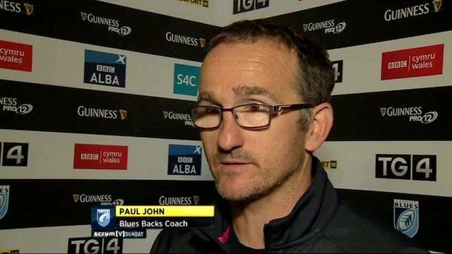 Blues backs coach Paul John