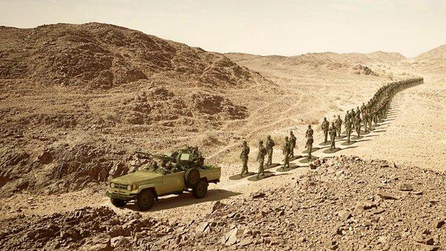 Soldiers in Western Sahara
