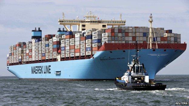 MV Maersk McKinney Moller, the world's biggest container ship