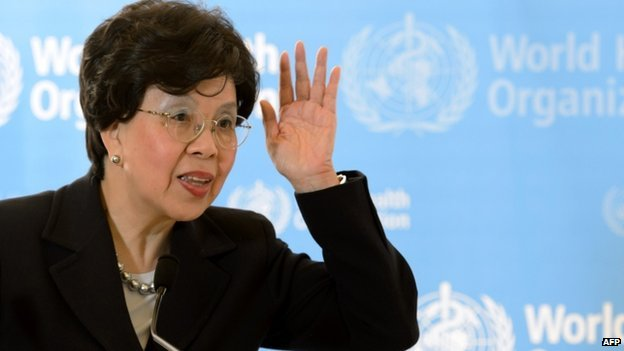 Margaret Chan at WHO conference. 18 May 2015