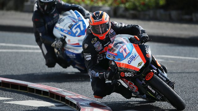 Ryan Farquhar in action at the NW200