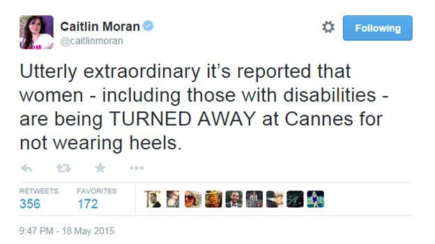 Caitlin Moran tweet