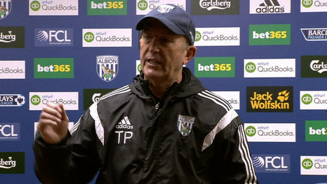 West Bromwich Albion boss Tony Pulis
