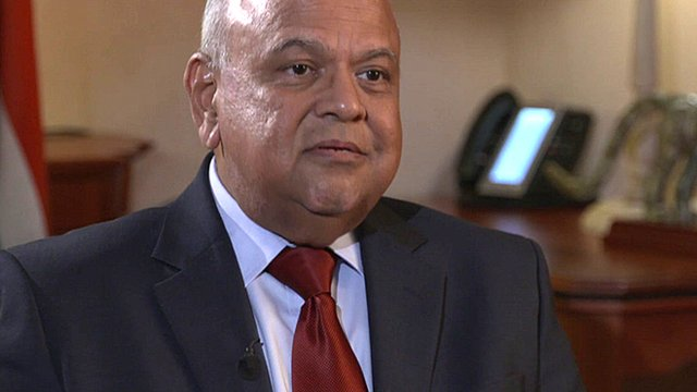 South Africa's Minister of Traditional Affairs Pravin Gordhan