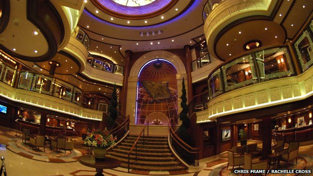 Lobby of Cunard's Queen Victoria