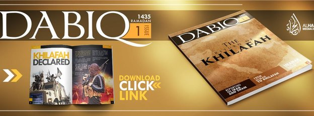 Advert for Islamic State's Dabiq magazine