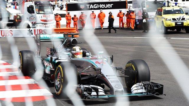 Lewis Hamilton drives at Monaco