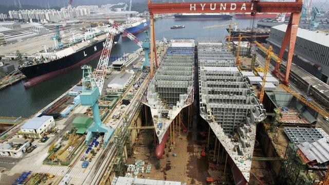 Ulsan shipyard