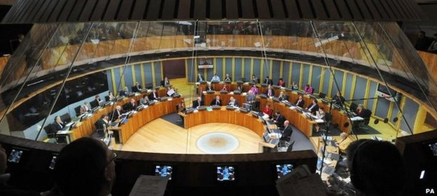 Interior of the Welsh Assembly