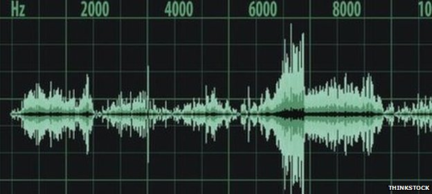 A stock image of audio waves