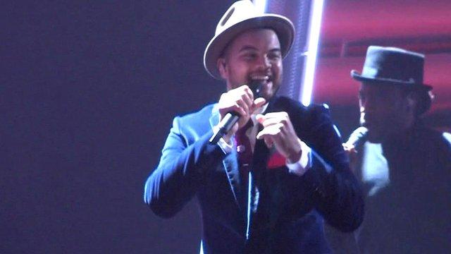 Guy Sebastian on stage