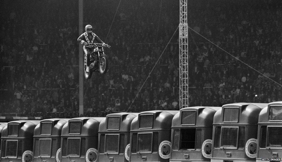 Evil Knievel's Wembley jump
