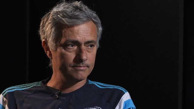 Jose Mourinho with Dan Walker