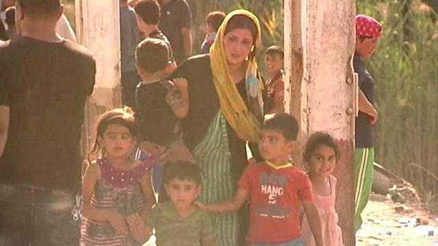 Displaced people from Ramadi