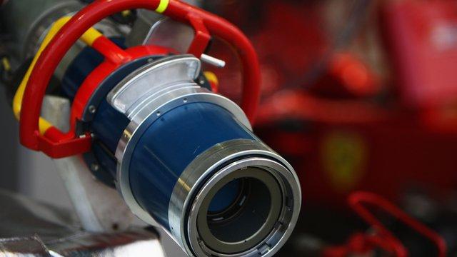 A Formula 1 refuelling rig nozzle