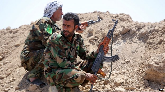 Iraqi Shia fighters west of Baghdad, 19 May