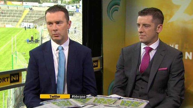 BBC Sport NI GAA pundits Oisin McConville and Philip Jordan
