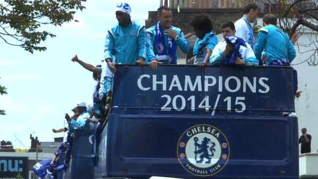 Chelsea's open top bus