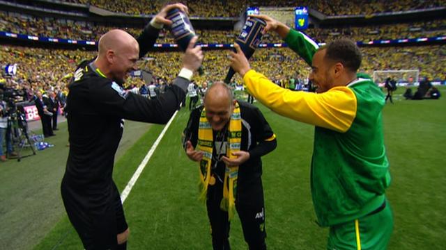 Norwich players hail Alex Neil's Premier League promotion
