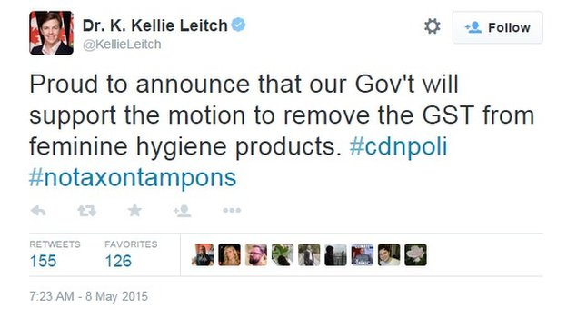Tweet by Kellie Leitch