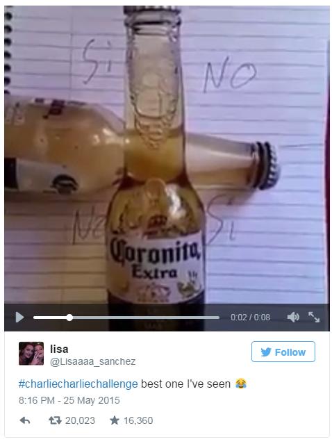 Corona bottle challenge