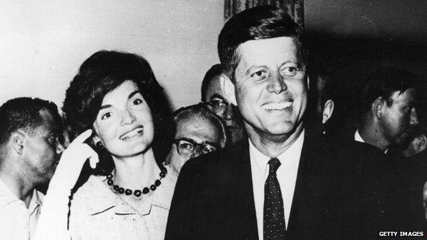 JFK and wife Jackie
